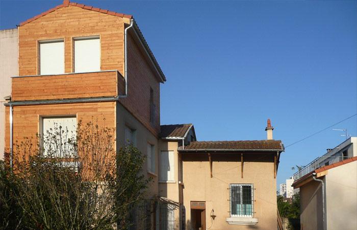 00 Surelevation-finalisee in Surélévation, extension et rénovation de maison Toulouse centre (31)
