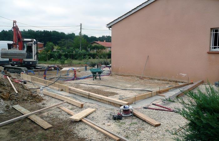 01 Extension-Montauban Dallage in Extension au sol dune maison à Montauban (82)