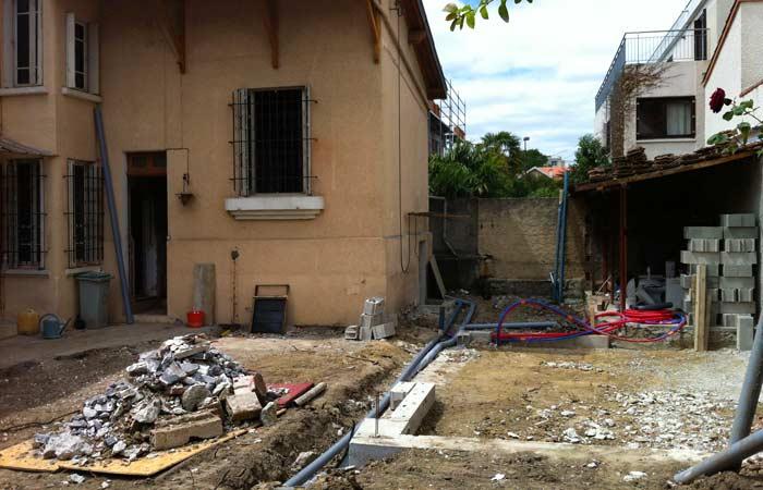 02 Maison-toulouse-construction-brique-annexe in Surélévation, extension et rénovation de maison Toulouse centre (31)