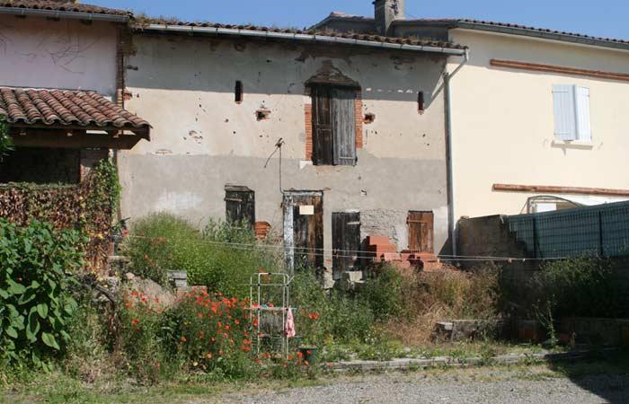 02 Renovation Facade-cote-jardin in Construction maison Aussonne (31)