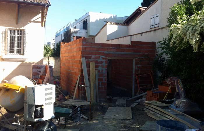03 Maison-toulouse-construction-murs-annexe in Surélévation, extension et rénovation de maison Toulouse centre (31)