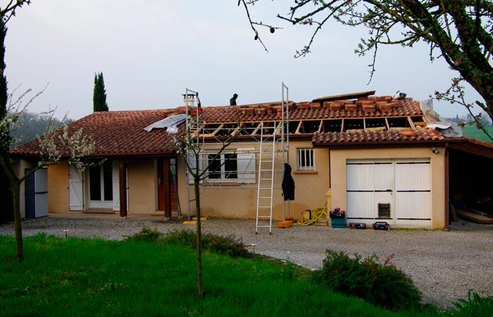 03 Ouverture-partielle-pour-poutres-ajourres in Surélévation Montpitol (31)