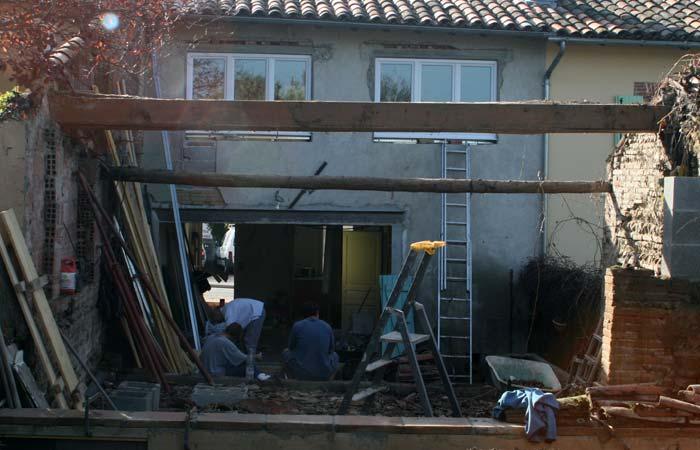 03 Renovation-toulouse Facade-cote-cour in Rénovation maison Toulouse (31)
