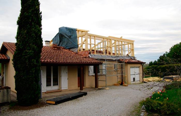 Sur l vation montpitol 31 ebs sur l vation for Extension maison 3 murs