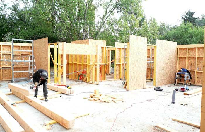 05 Maison-bois Poutres-mezzanine in Construction maison bois - Labarthe/Lèze (31)