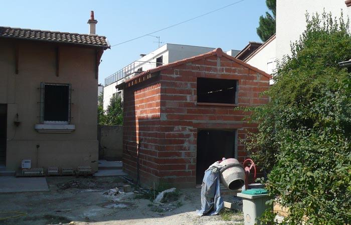 06-creation-annexe-brique-toulouse in Surélévation, extension et rénovation de maison Toulouse centre (31)