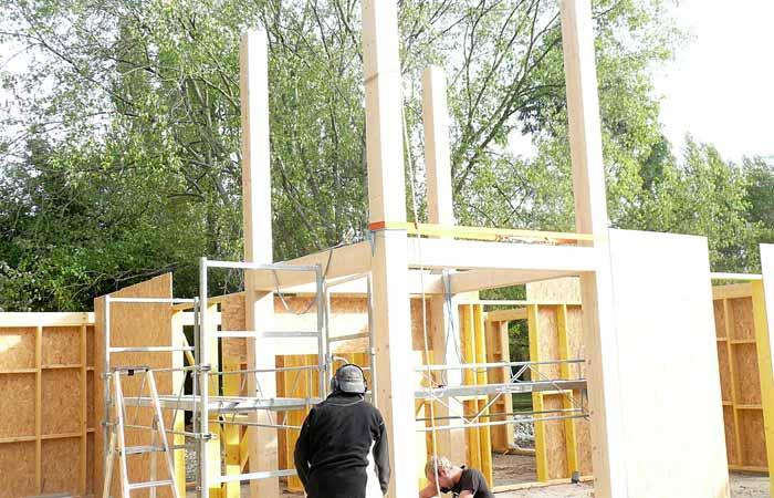 07 Tour-centrale Mezzanine in Construction maison bois - Labarthe/Lèze (31)