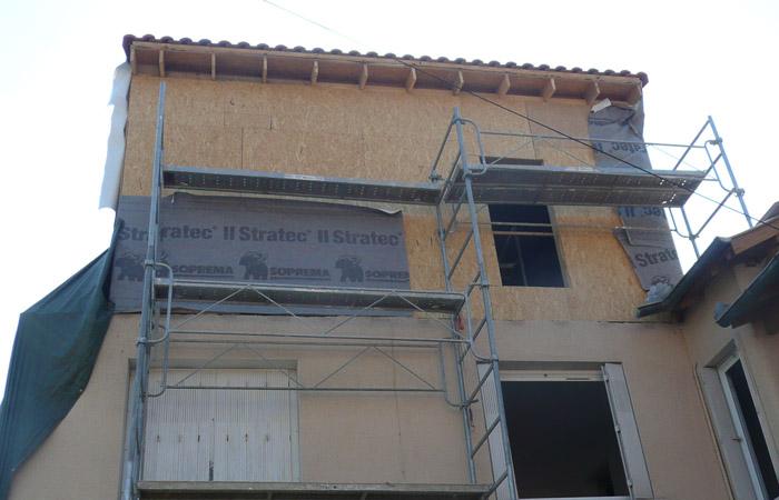 08-surelevation-bois-toulouse in Surélévation, extension et rénovation de maison Toulouse centre (31)