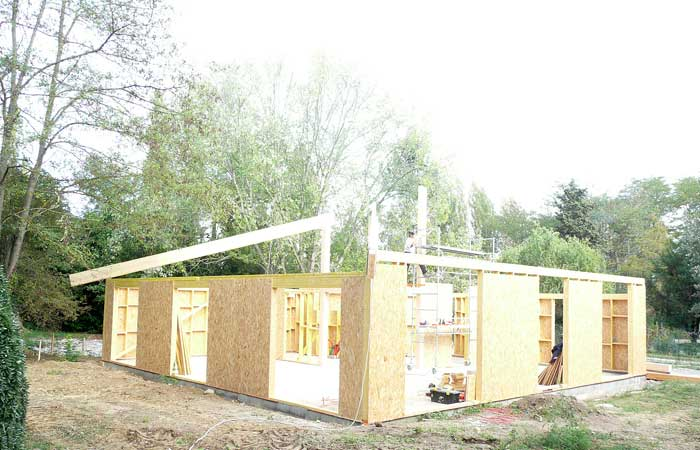 08 Mise-en-place in Construction maison bois - Labarthe/Lèze (31)