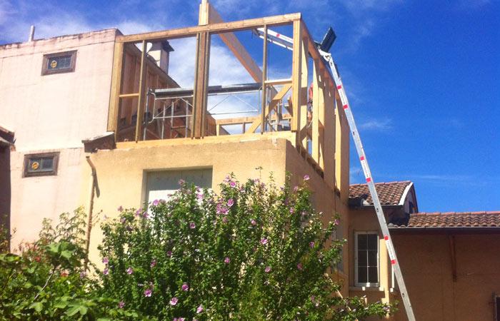 09-surelevation-ossature Bois-toulouse in Surélévation, extension et rénovation de maison Toulouse centre (31)
