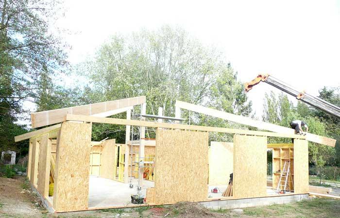 09 Mise-en-place in Construction maison bois - Labarthe/Lèze (31)