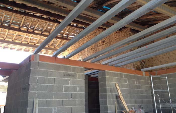 R novation toulousaine 31 ebs surelevation et for Construction plancher bois etage
