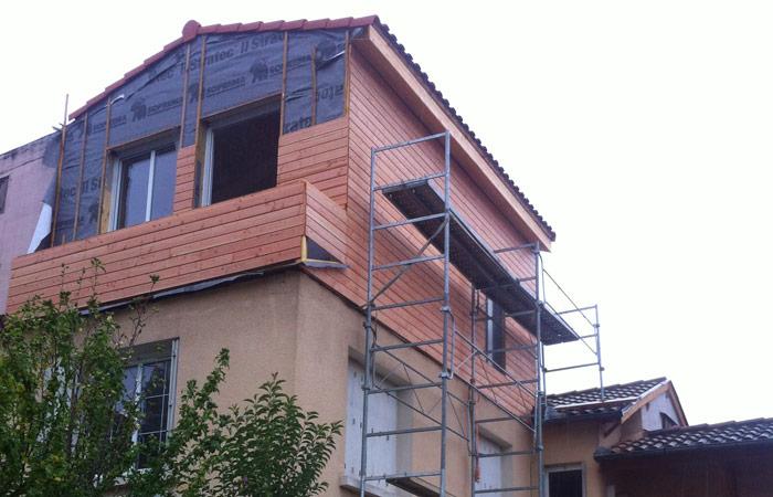12 Surelevation-Toulouse-bardage-bois in Surélévation, extension et rénovation de maison Toulouse centre (31)