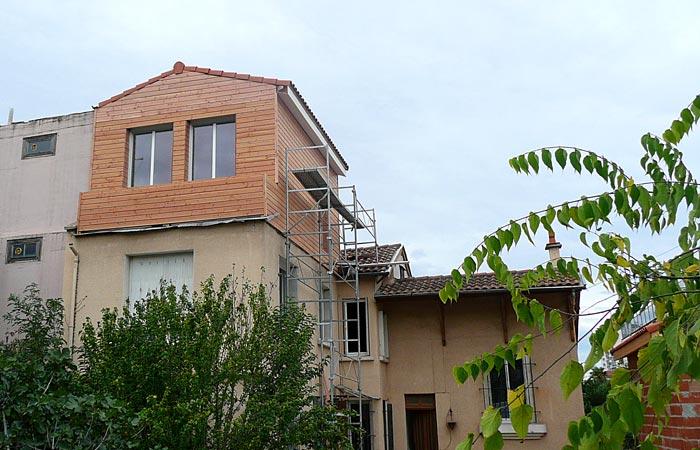 13 Surelevation-Toulouse-Bardage-final in Surélévation, extension et rénovation de maison Toulouse centre (31)