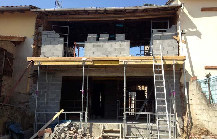 14 Batisse-murs-etage in Construction maison Aussonne (31)