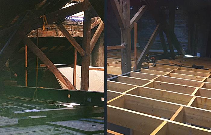 14 Creation-plancher Assemblage-poutres Solivage in Archives / Surélévations