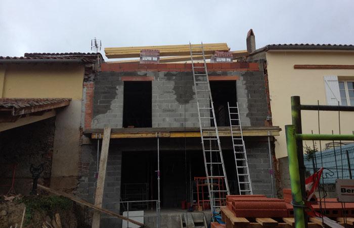 15 Poutres-pour-charpente in Construction maison Aussonne (31)