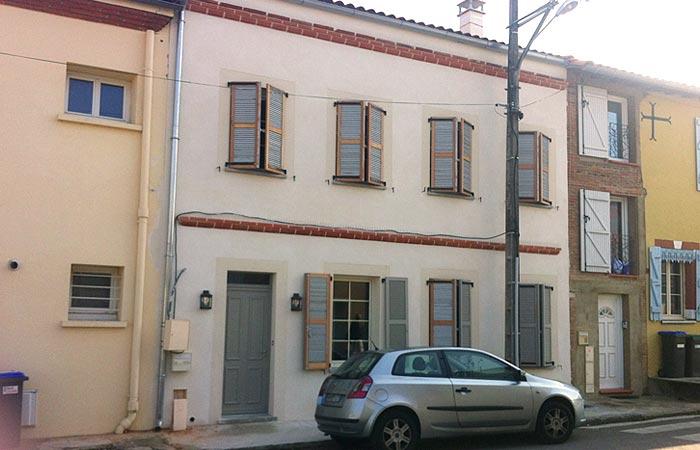 25 Enduit-facade in Construction maison Aussonne (31)