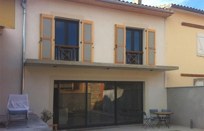 27 Facade-jardin-renovation in Construction maison Aussonne (31)