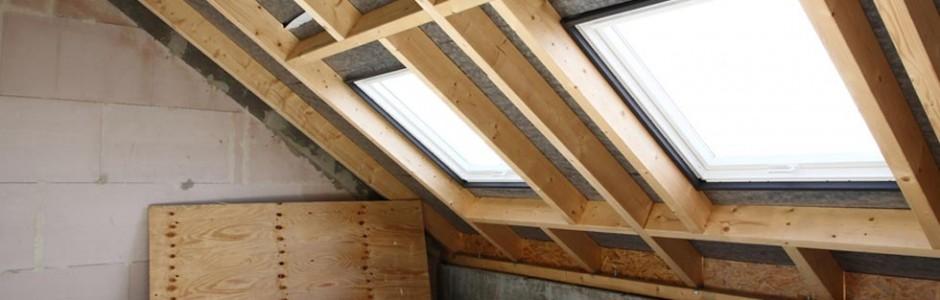 Construction et entretien de charpente, pose de fenêtres de toit, velux