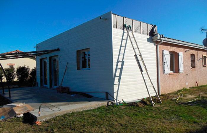12 Extension-maison-bardage2 in Extension au sol dune maison à Bruguières (31)