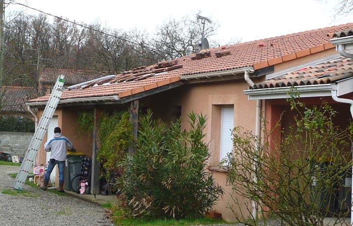 01-Surelevation-Fonsorbes-Ouverture-toiture in Surélévation dune maison à Fonsorbes (31)