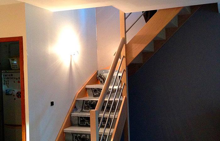 099-SURELEVATION-LAUNAGUET-escalier in Surélévation maison à Launaguet (31)