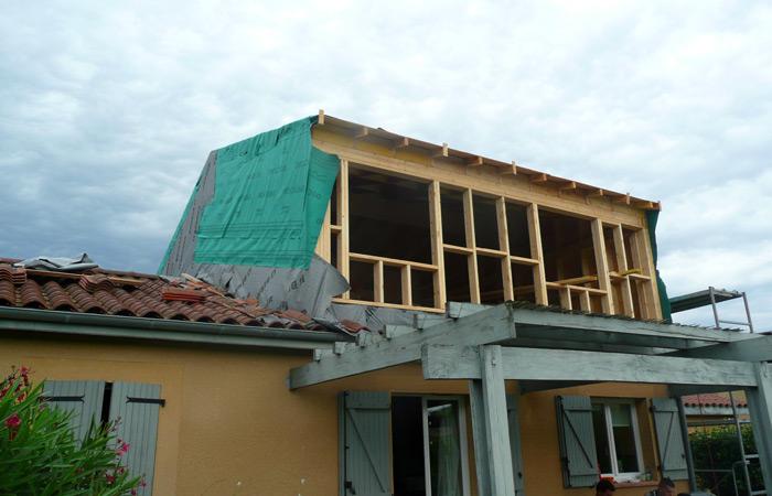 04-surelevation-maison-grenade-etancheite in Surélévation maison à Grenade sur Garonne