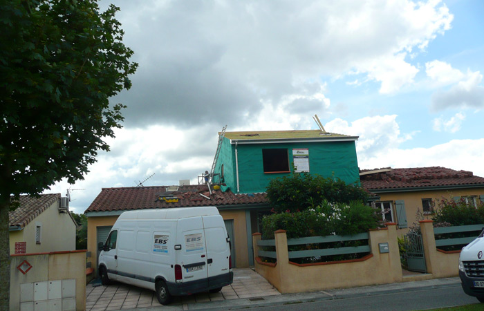 05-surelevation-maison-grenade-etancheite in Surélévation maison à Grenade sur Garonne