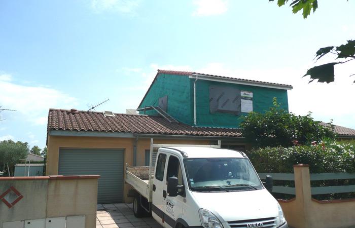 07-surelevation-maison-grenade-parepluie in Surélévation maison à Grenade sur Garonne