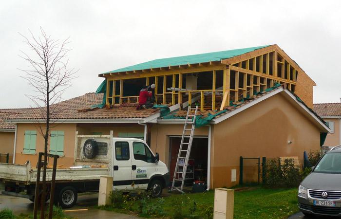 05 SURELEVATION-MAISON-AUSSONNE in Surélévation maison à Aussonne