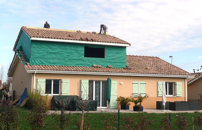 08 SURELEVATION-MAISON-AUSSONNE in Surélévation maison à Aussonne