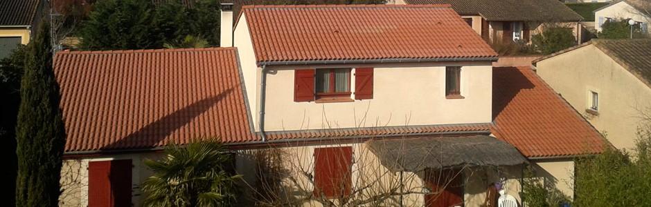 Surélévation d'une maison à Launaguet (31)