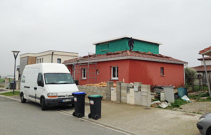 05-Surelevation-Colomiers-4pentes-etancheite in Surélévation maison à Colomiers (2)