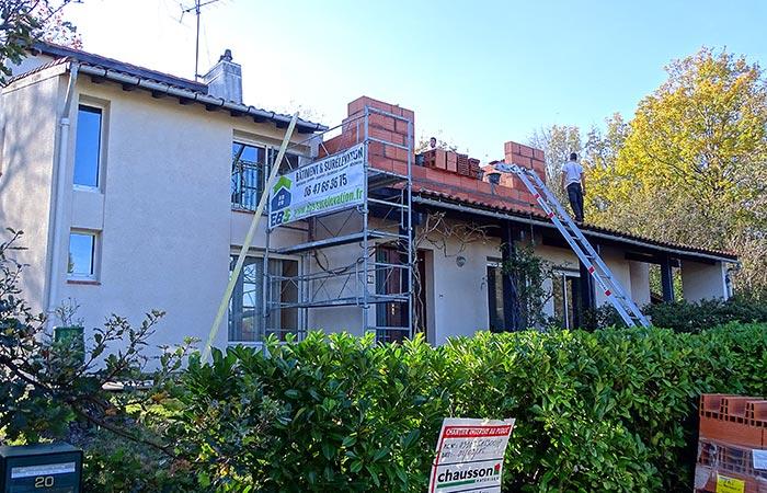 01-Surelevation-maison-ossature-briques in Surélévation dune maison à Auzeville (31)