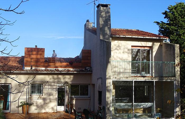 02-Surelevation-maison-ossature-briques in Surélévation dune maison à Auzeville (31)