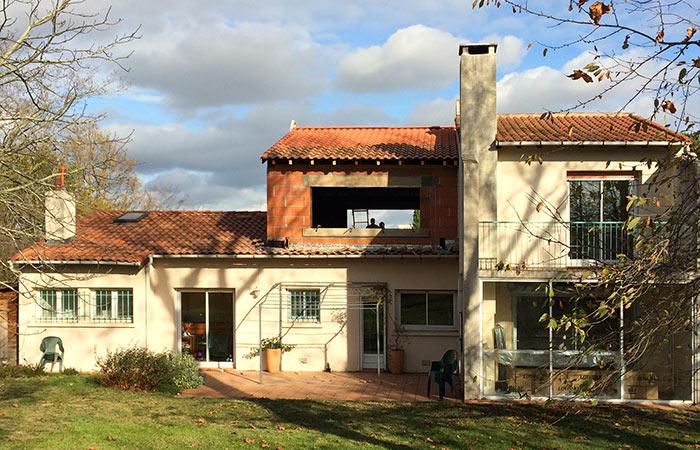 04-Surelevation-maison-ossature-briques in Surélévation dune maison à Auzeville (31)