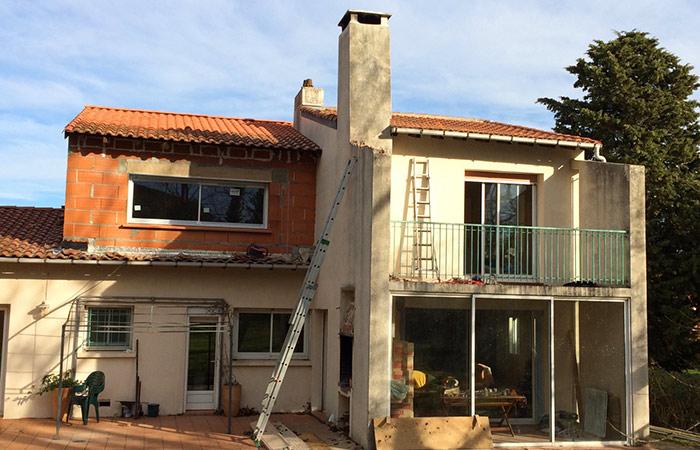 05-Surelevation-maison-Auzeville-menuiseries in Surélévation dune maison à Auzeville (31)