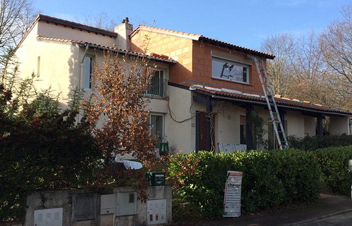 06-Surelevation-maison-Auzeville-menuiseries in Actualité EBS Bâtiment et Surélévation sur Toulouse et Midi-Pyrénées.