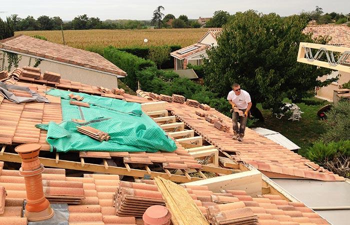 03-surelevation-dieupentale-poutres in Surélévation dune maison à Dieupentale (82)