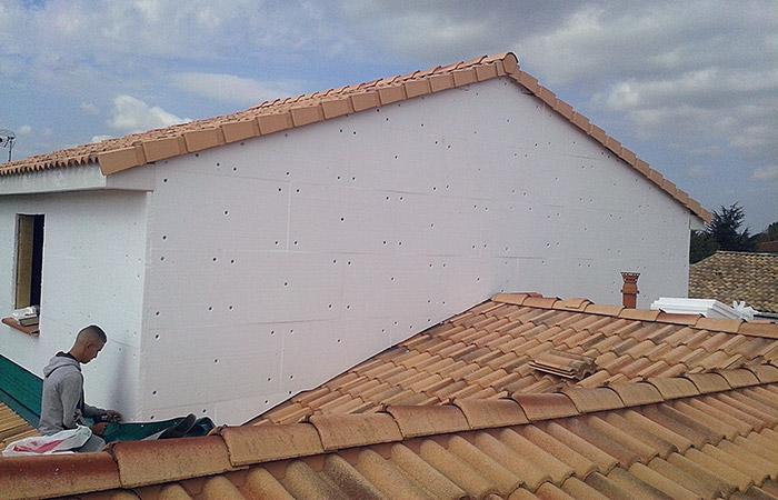05-surelevation-dieupentale-isolation in Surélévation dune maison à Dieupentale (82)