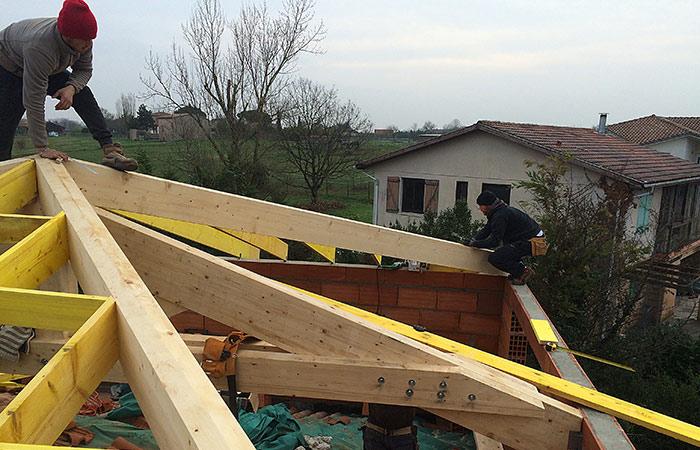 Surélévation D'une Maison à Montaigut-sur-Save (31)