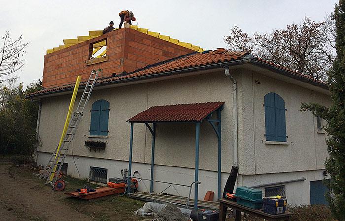 05-Surelevation-maison-montaigut in Surélévation dune maison à Montaigut-sur-Save (31)