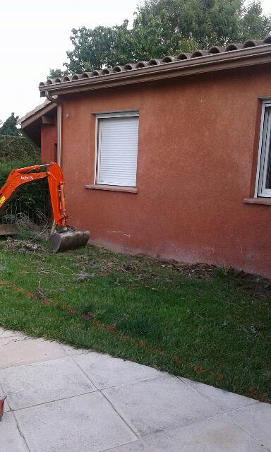 02-extension-maison-bardage-bruguieres-fouilles in Extension dune maison à bruguières