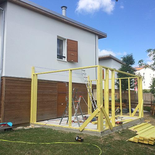 03-extension-maison-toulouse-ossature-bois in Extension dune maison à Toulouse - Saint-Simon (31)