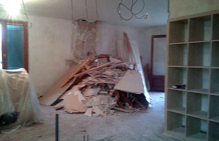 03-renovation-maison-toulouse-demonte in Rénovation intérieure + Création garage + Terrasse - Maison à St-Orens (31)
