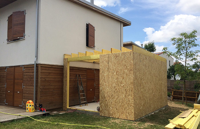 Extension d une maison toulouse saint simon 31 ebs for Extension etage ossature bois