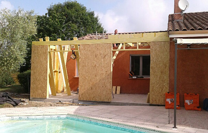 09-extension-maison-bardage-bruguieres-ossature in Extension dune maison à bruguières