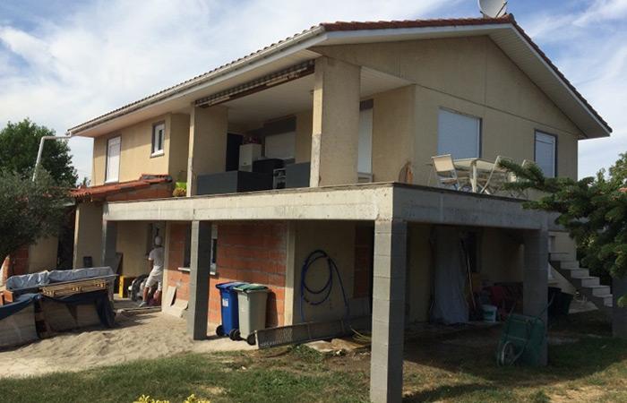 23-renovation-construction-terrasse in Rénovation intérieure + Création garage + Terrasse - Maison à St-Orens (31)