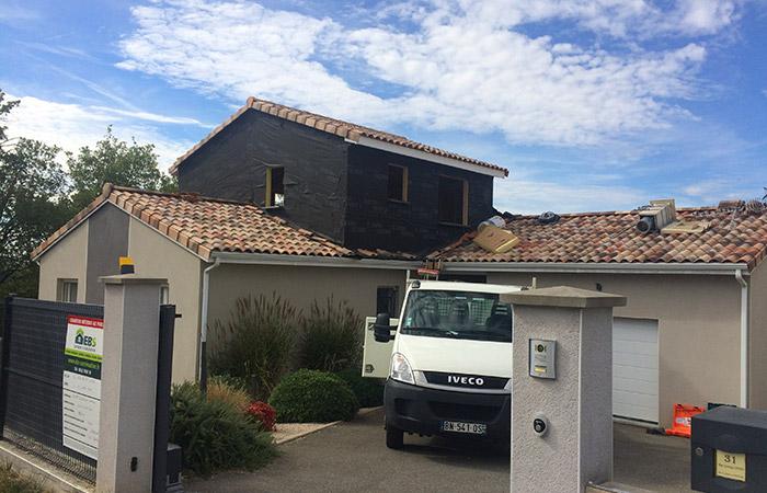 01-surelevation-maison-lisle-jourdain-etancheite in Actualité EBS Bâtiment et Surélévation sur Toulouse et Midi-Pyrénées.